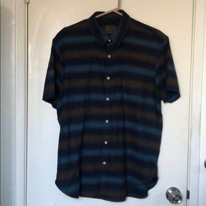 Lucky Brand striped short sleeves button down